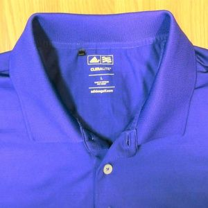 ADIDAS CLIMALITE Mens POLYESTER POLO SHIRT PURPLE